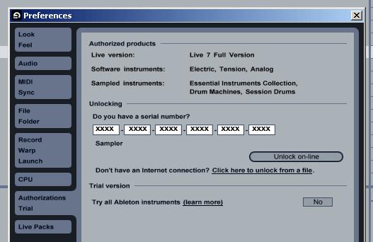 Ableton Live 9.7.5 Serial Number