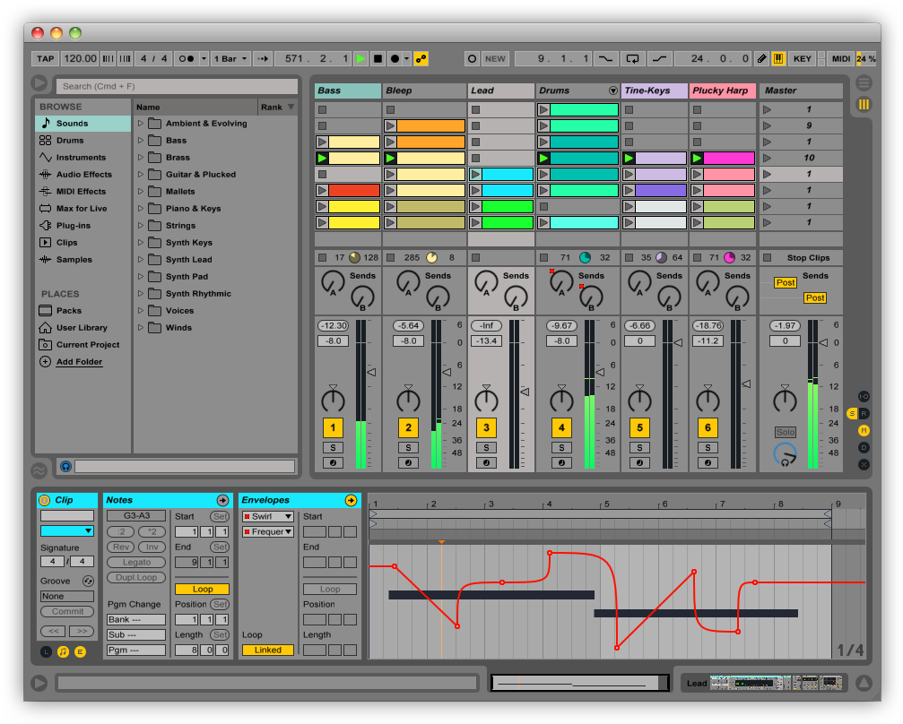 Ableton live 9 session view image