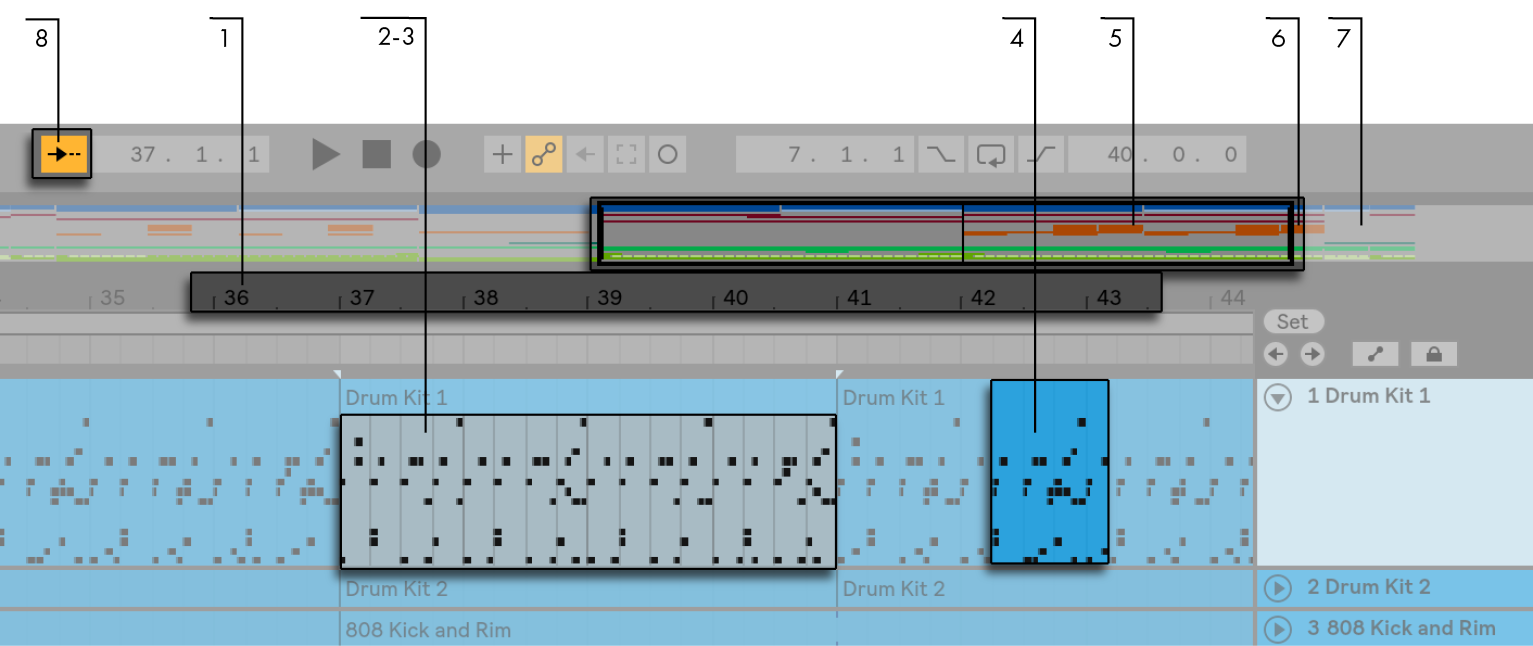Arrangement View — Ableton Reference Manual Version 10 | Ableton