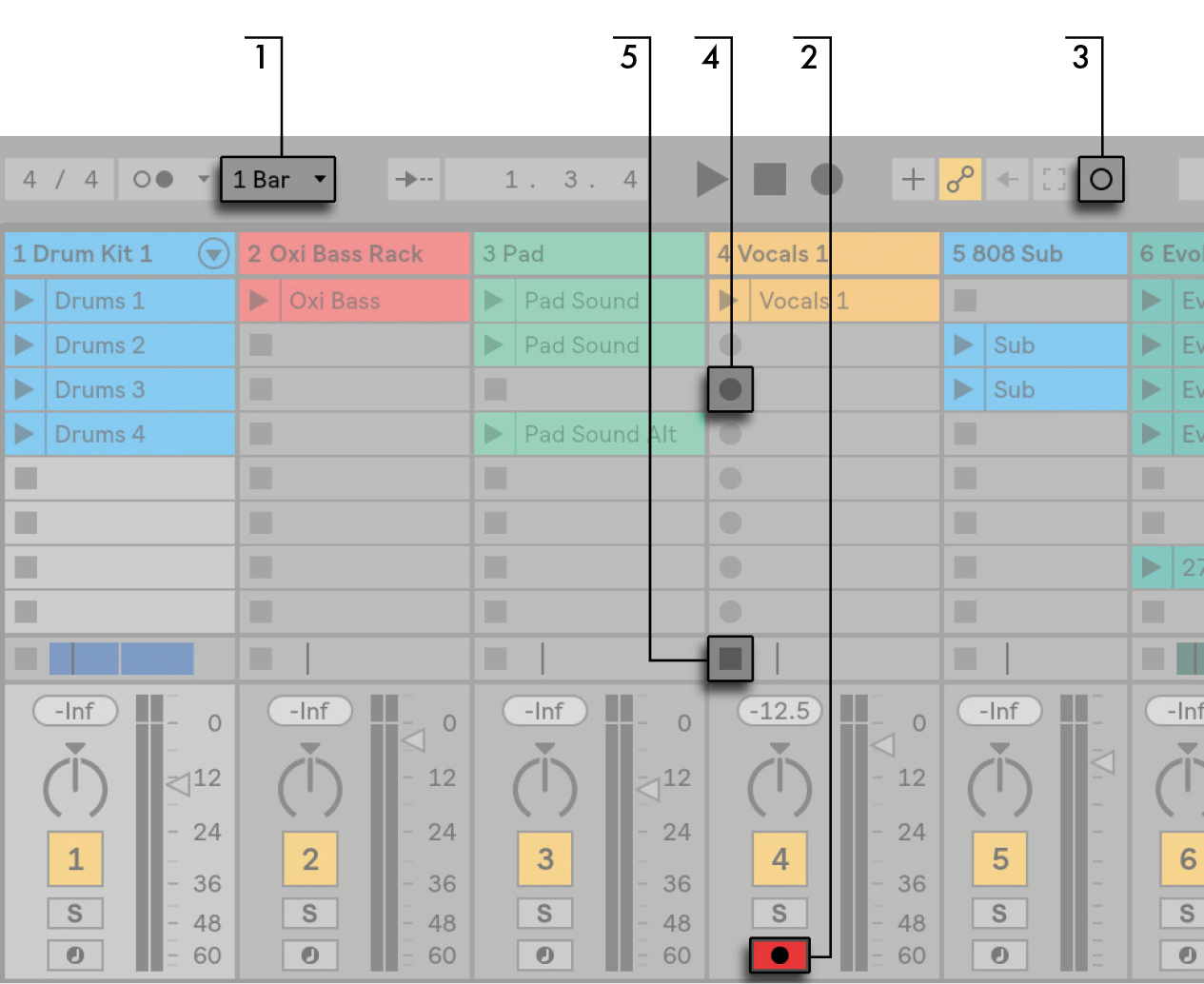 Recording New Clips Ableton Reference Manual Version 10 Switch That Would Activate Whenever It Got An Audio Input Into The Session View