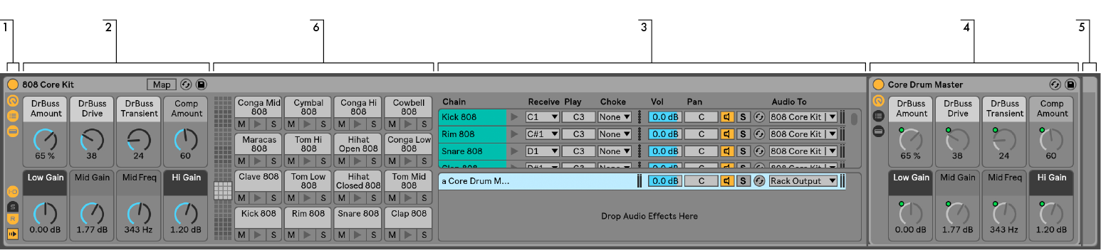 Instrument, Drum and Effect Racks — Ableton Reference Manual Version