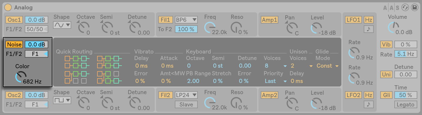 ableton live 9 analog instrument