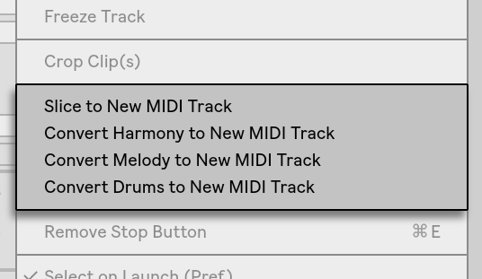 Converting Audio to MIDI — Ableton Reference Manual Version 10 | Ableton