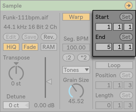 Clip View — Ableton Reference Manual Version 10 | Ableton
