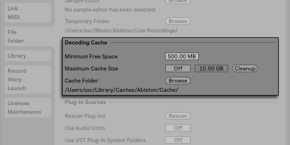 Managing Files and Sets — Ableton Reference Manual Version 10 | Ableton