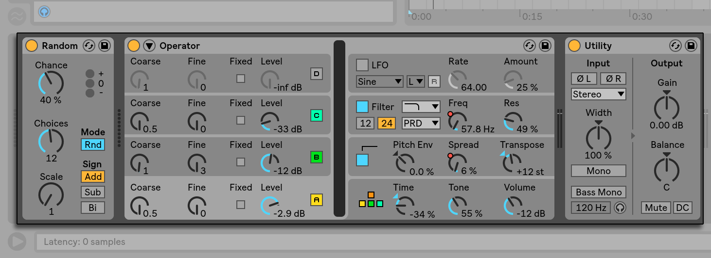 Working with Instruments and Effects — Ableton Reference