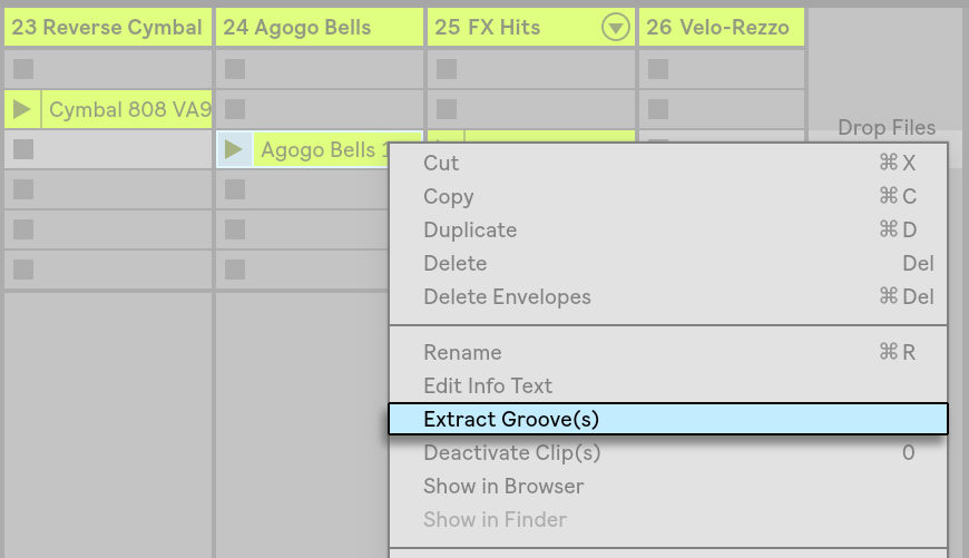 Using Grooves — Ableton Reference Manual Version 10 | Ableton