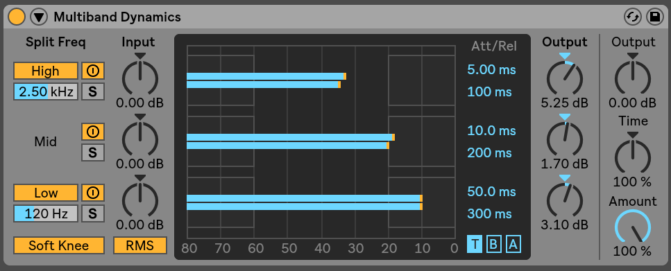 Live Audio Effect Reference — Ableton Reference Manual
