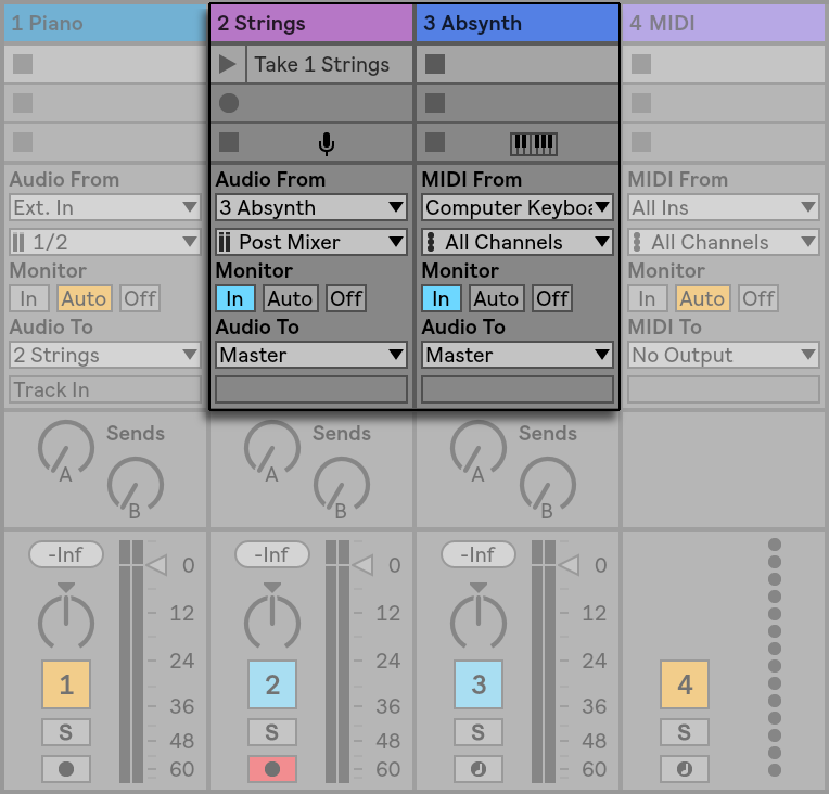 Routing and I/O — Ableton Reference Manual Version 10 | Ableton