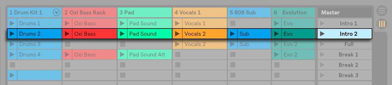 Session View — Ableton Reference Manual Version 10 | Ableton