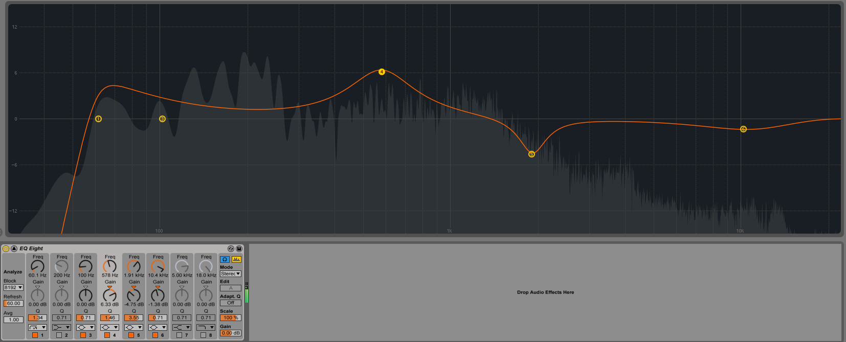 Redesigned EQ8 in Live 9