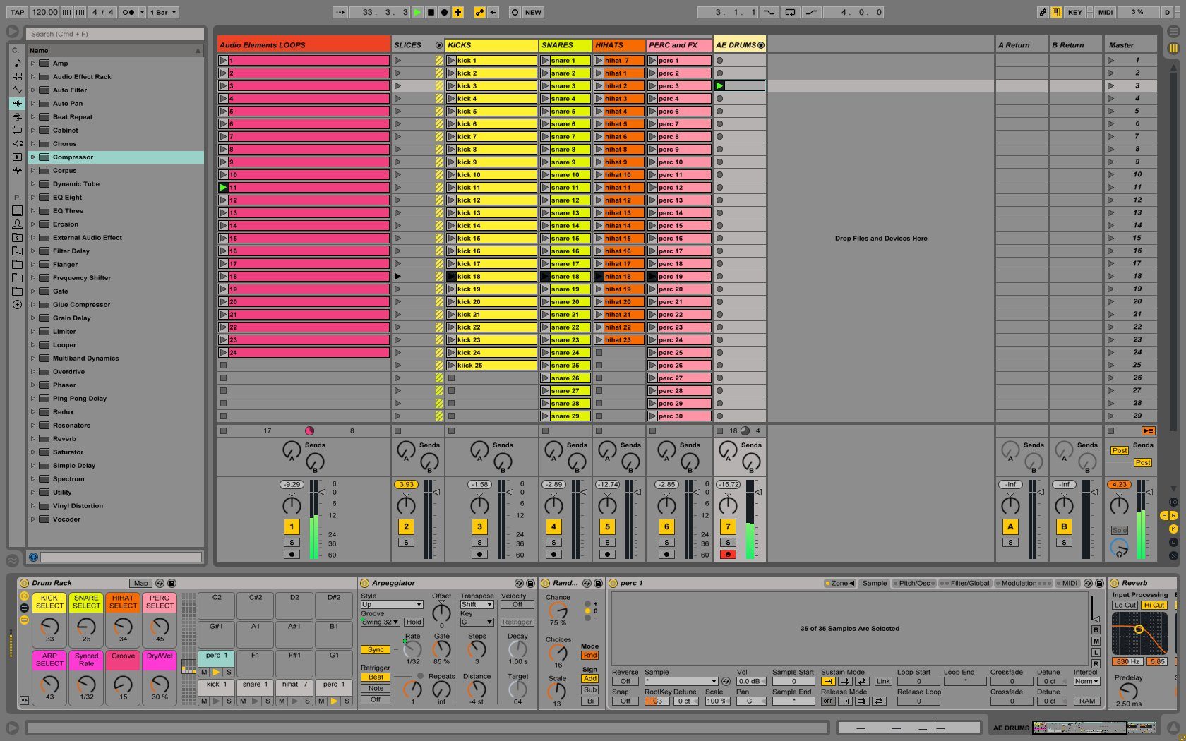 Waveforms Audio Elements
