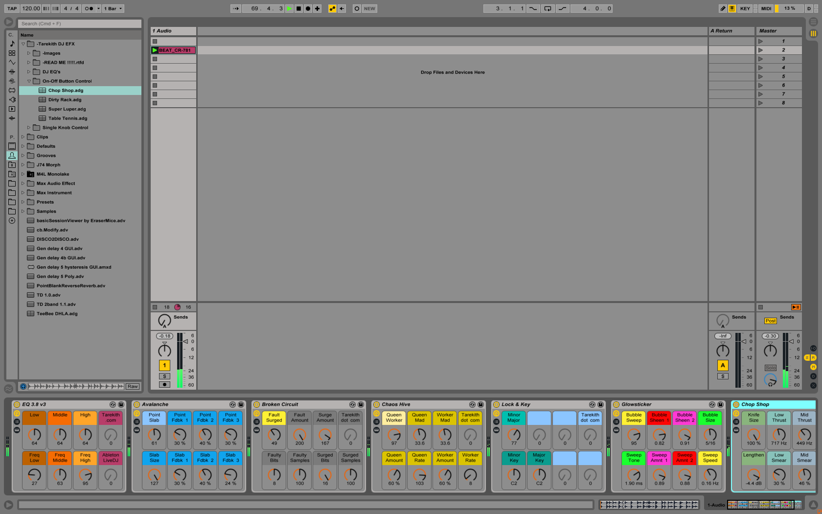 how to get the individual sounds from a pack ableton