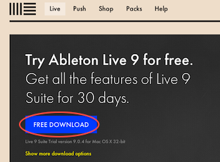 """the blue """"Free Download"""" button to download the Live trial installer"""