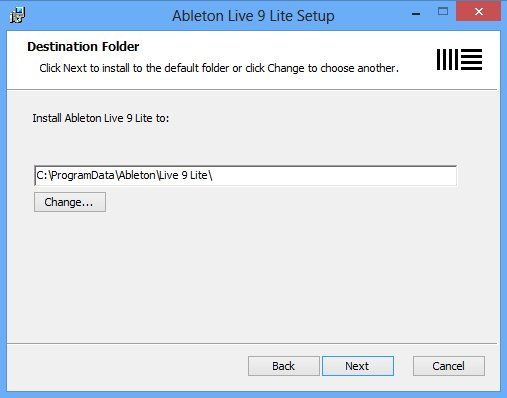 installing live 9 lite on windows ableton. Black Bedroom Furniture Sets. Home Design Ideas