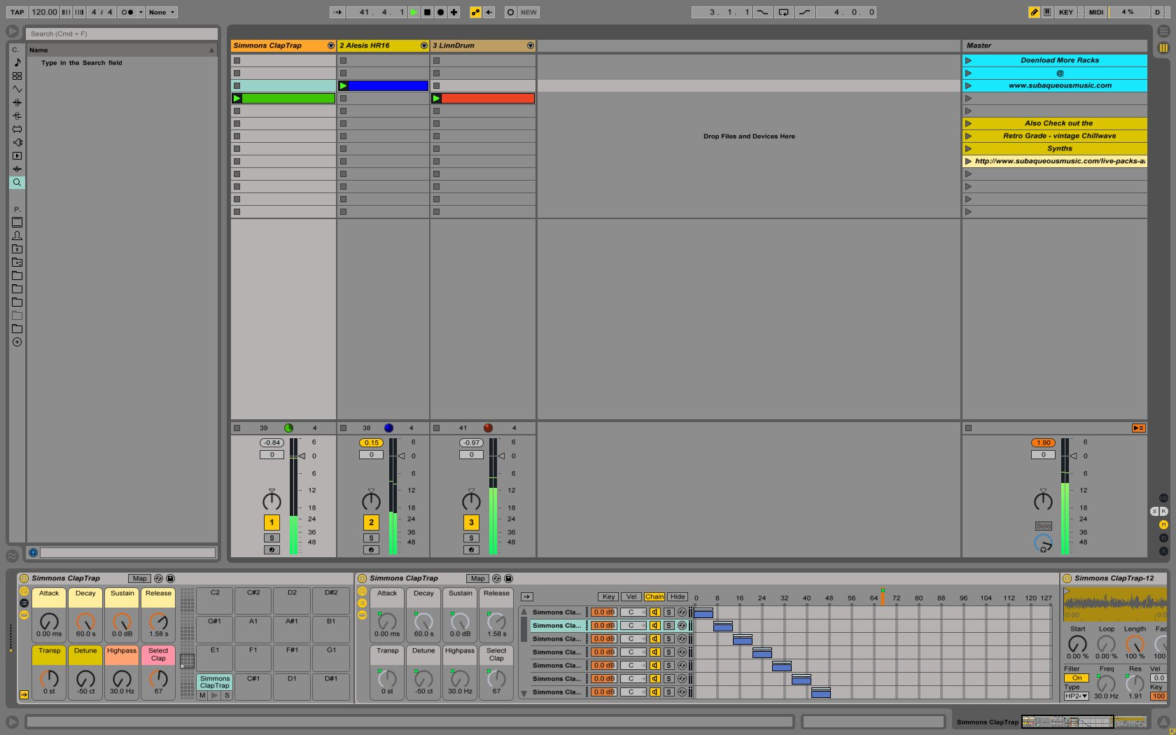 instruments for ableton free