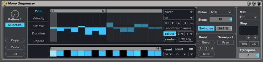 Mono Sequencer in Max for Live