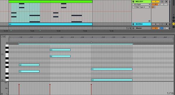 MIDI-Noten um Oktaven verschieben in Live 9