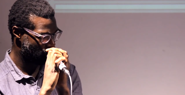 Tunde Adebimpe performs at Dubspot