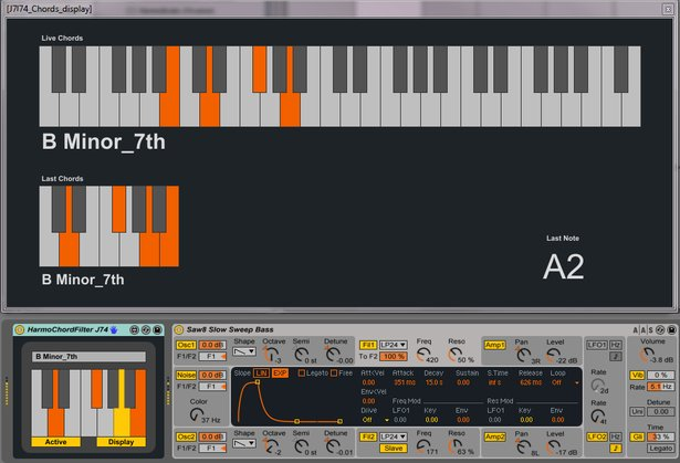 J74 HarmoTools - Free Max for Live Devices for Chords | Ableton