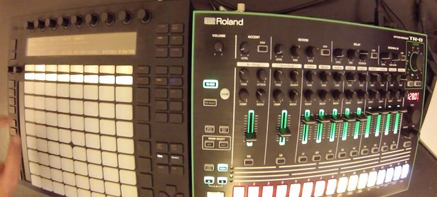 Ableton Push (left) and Roland AIRA TR-8 (right)