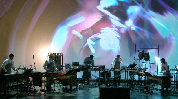 "Pantha du Prince & The Bell Laboratory perform ""In C"" at London's Barbican Theatre"