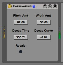 Hisaki Ito turned the pulse wave oscillator from Kyoka's complex Max-Patch into a Max for Live device. Download it for free: http://bit.ly/pulsem4l