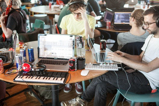 Hackers at MIDI Hack
