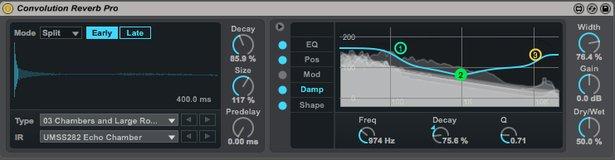 Convolution Reverb Pro in Live 9.