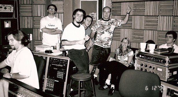 Mixdowns in the studio with Skank in 1996