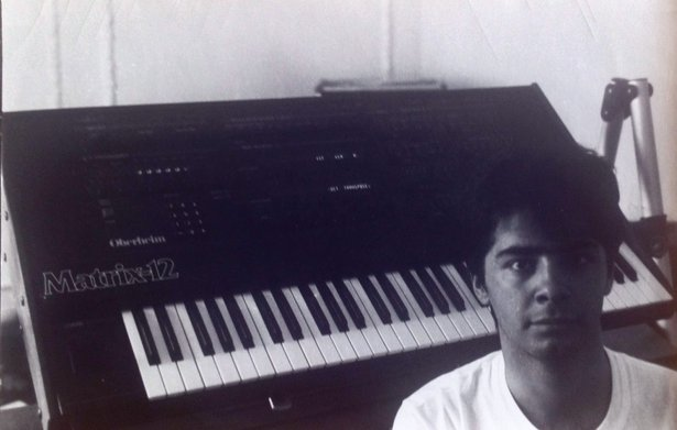 Marote with his Oberheim Matrix-12 in 1986