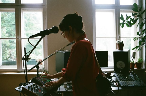 Lucrecia Dalt in her Berlin studio.