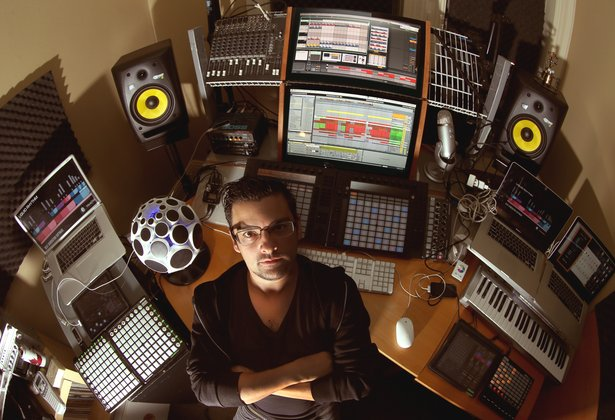 Jason Spanu in his studio. Photo by Christopher Drost.