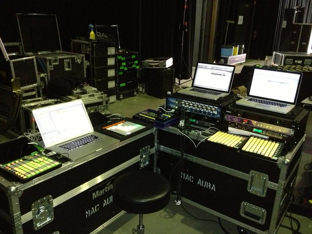 Jason Spanus' Set-Up für Frank Oceans Live Shows. Foto von Christopher Drost.