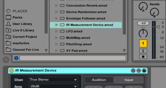 Make your own impulse responses for Live 9's Convolution Reverb