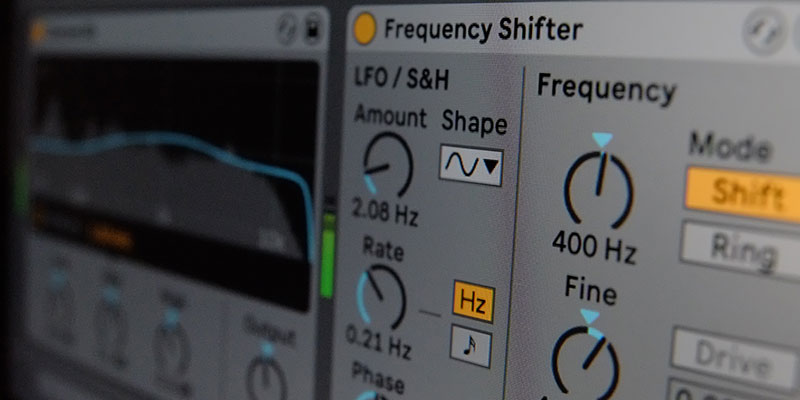 Sound design tips for Live's Frequency Shifter