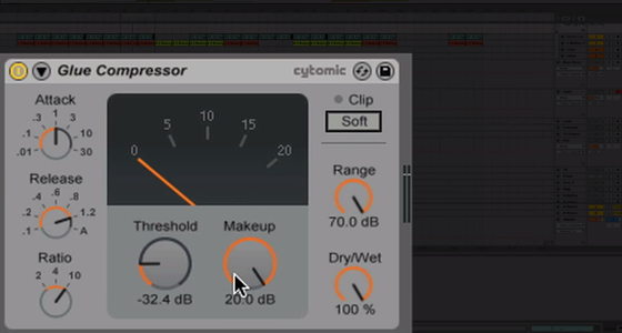 Working with Live 9's new Glue Compressor - tutorial from Dubspot