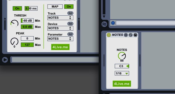 Make MIDI Notes from Audio Peaks - New Max for Live Devices